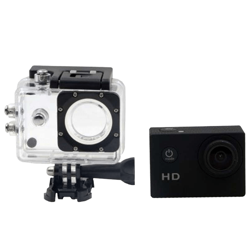 Deeray 12 MP 720p HD Action Camera (SDV-105, Black)