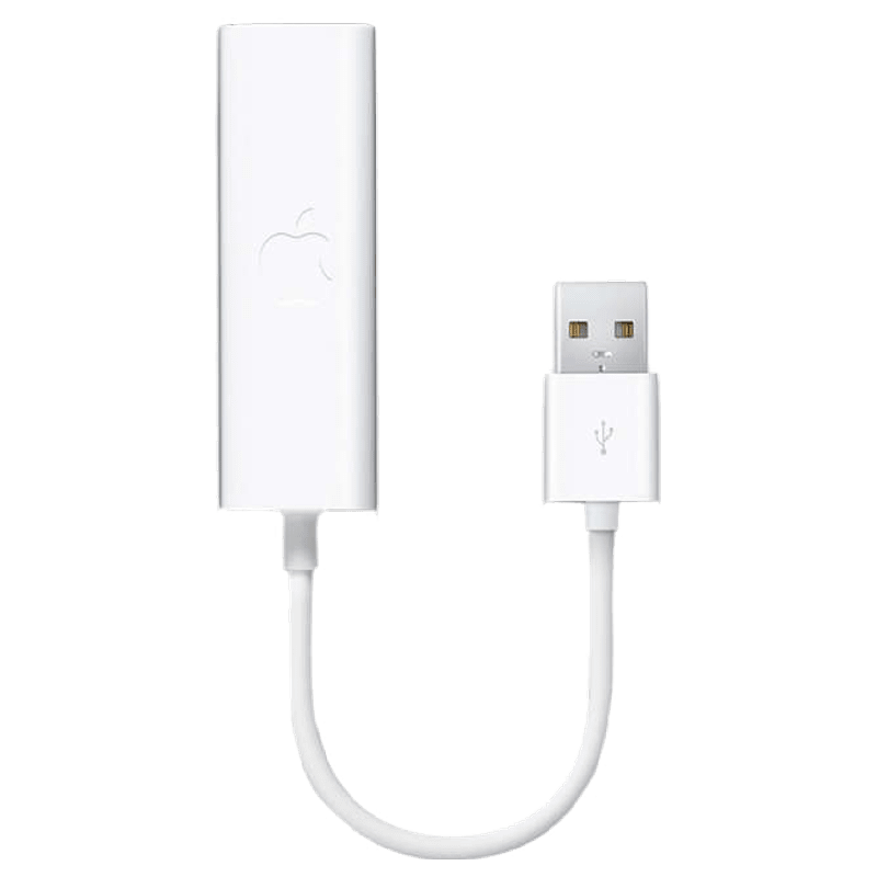 Apple USB 2.0 (Type-A) to RJ-45 Ethernet Cable (MC704ZM/A, White)