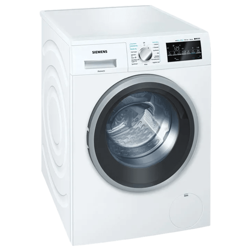 Siemens iQ500 8 kg/5 kg Fully Automatic Front Load Washer Dryer Combo (Anti-Vibration Side Panels, WD15G460IN, White)