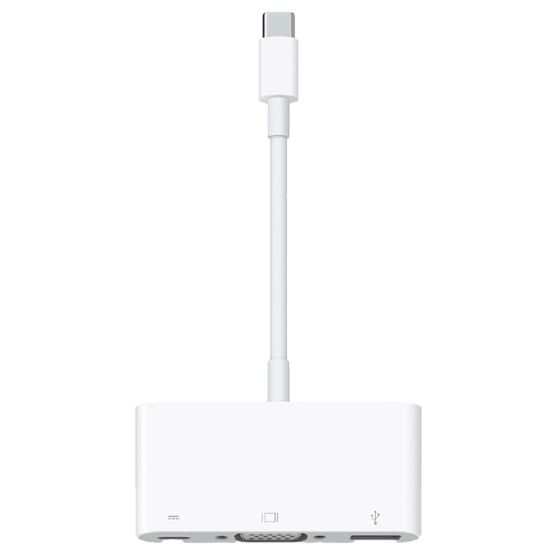 Apple USB 3.0 (Type-C) to USB 3.0 (Type-C)/USB 2.0 (Type-A)/VGA Multiport Cable (MJ1L2ZM/A, White)