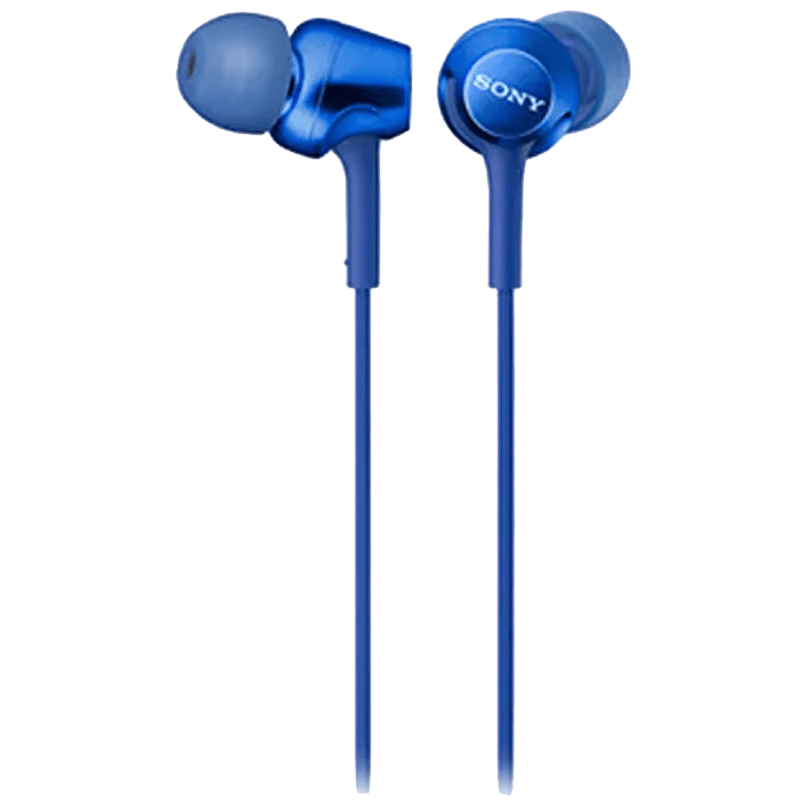 Sony In-Ear Wired Earphones with Mic (MDR-EX255AP, Blue)