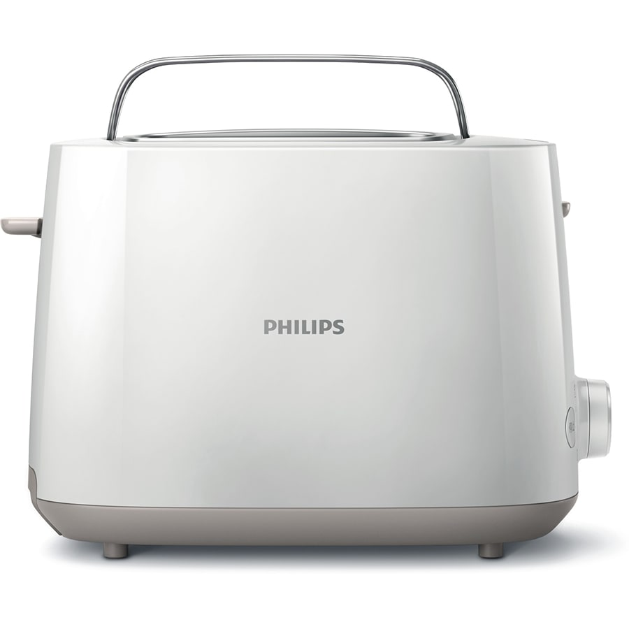Philips Daily Collection 830 Watts 2-Slice Pop-up Toaster (Integrated Bun Rack, HD2582/00, White)