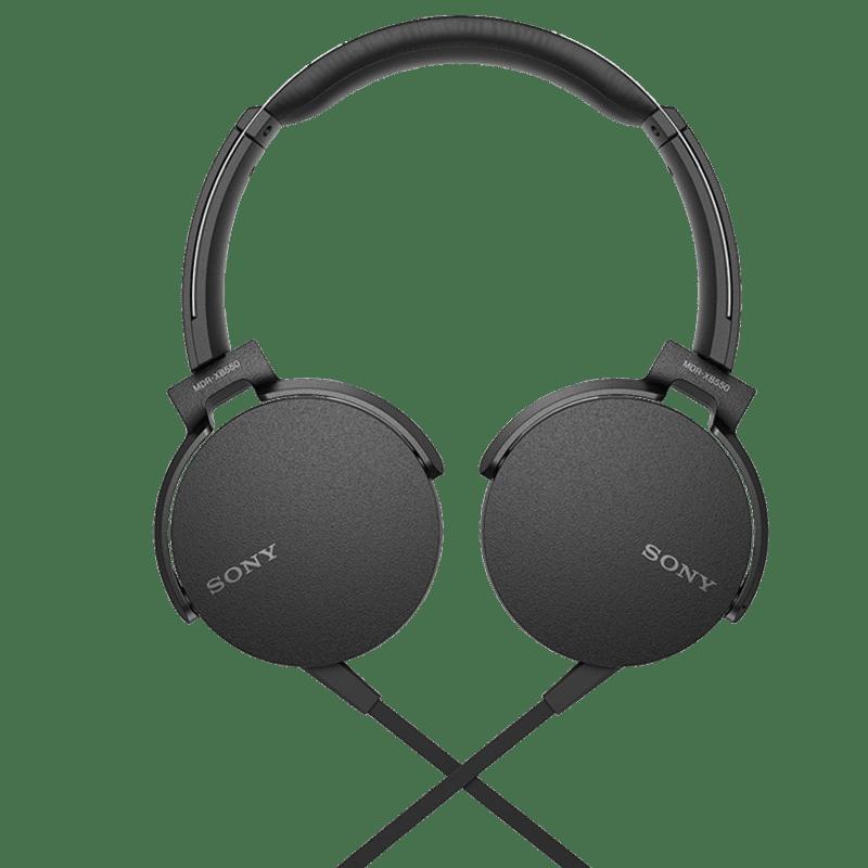 Sony MDR XB550AP On Ear Headphones (Black)