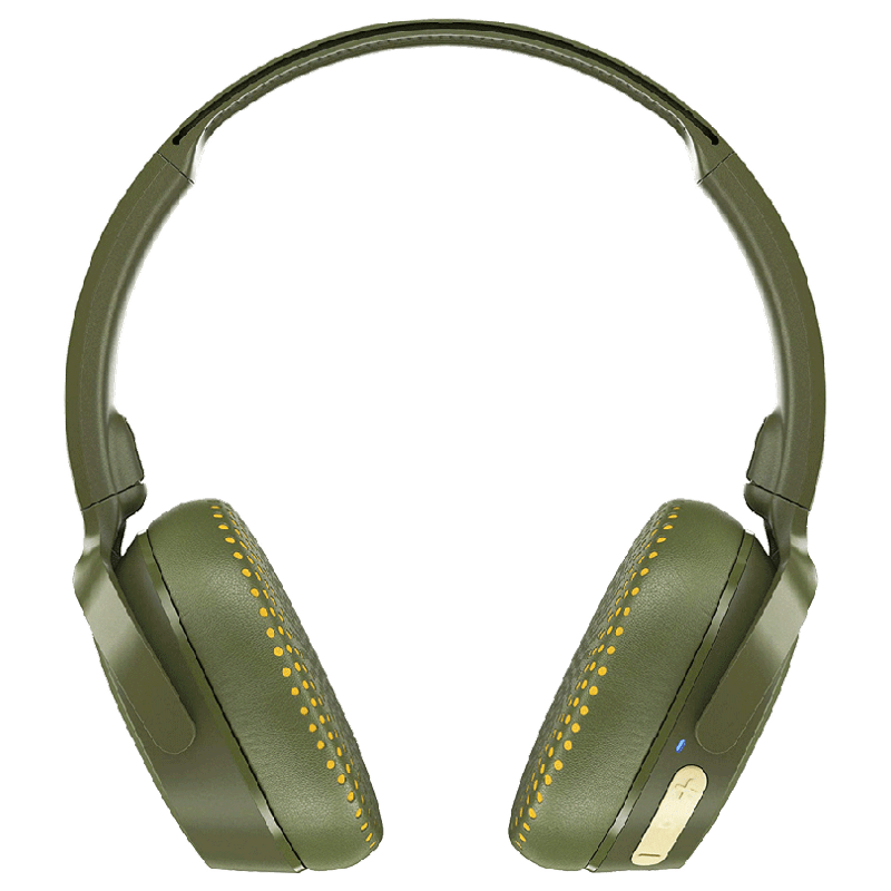 Skullcandy Riff Wireless Headphones (S5PXW-M687, Olive Yellow)