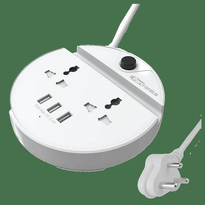 Portronics Power Bun Surge Protector (POR 739, White)
