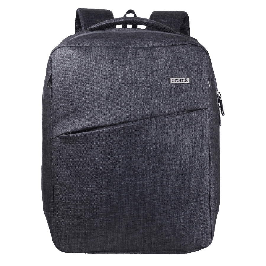 Croma Urban PU Fabric Bagpack for 14 Inch Laptop (4 Storage Compartments, CRXL5209, Black)