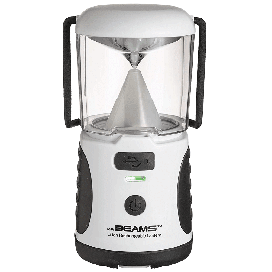 Mr. Beams Electric Powered 20 Lumens Rechargeable LED Lantern (MB480R, White)