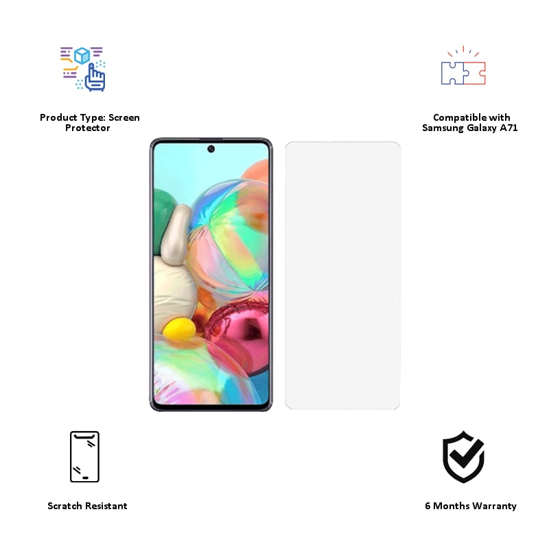Stuffcool 2.5D Tempered Glass for Samsung Galaxy A71 (MGGP25DSGA71, Clear)_3