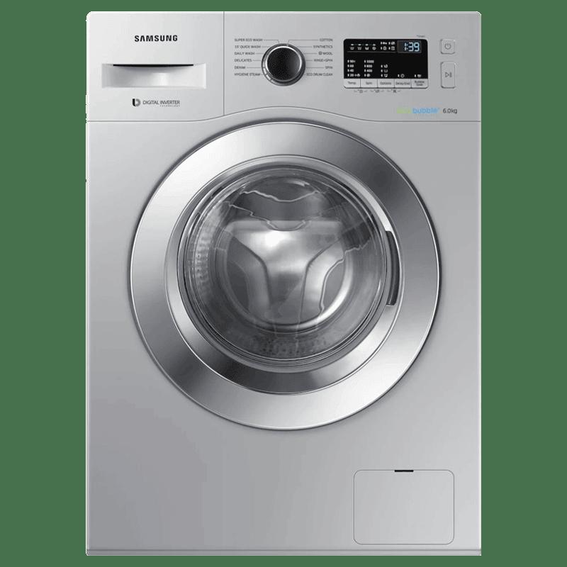 Samsung 6 kg Fully Automatic Front Loading Washing Machine (WW60R20EK0S/TL, Silver)