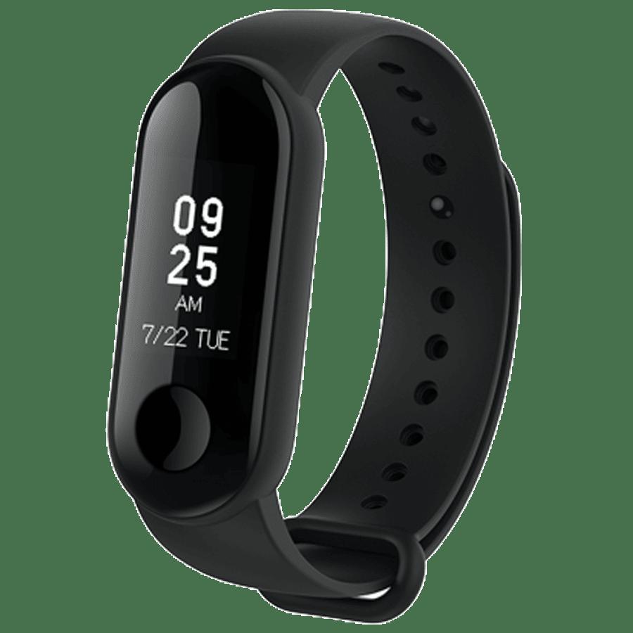 Xiaomi Mi Band 3i Fitness Tracker (19.8mm) (3 Axis Accelerometer Sensors, MGW4048IN, Black, TPU Band)