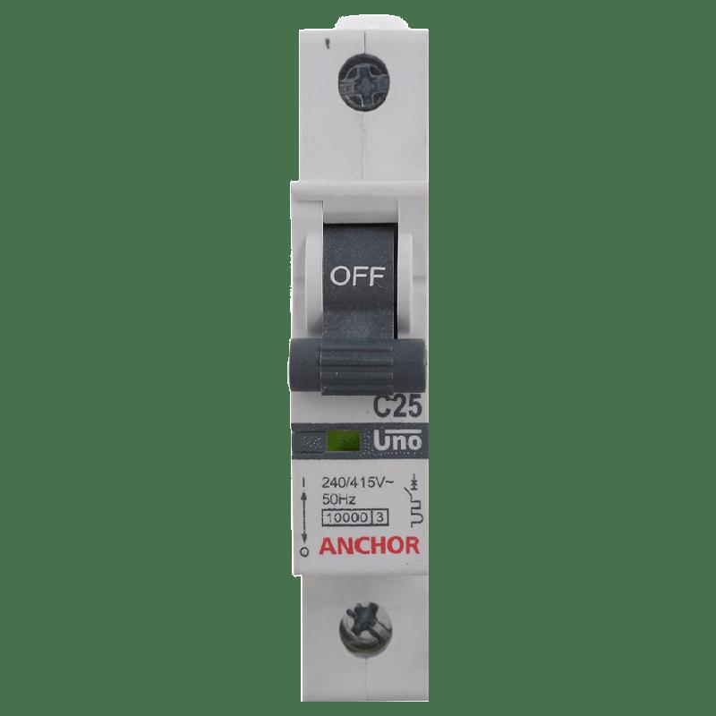 Anchor Uno 32A SP - C Type MCB (98006, White)