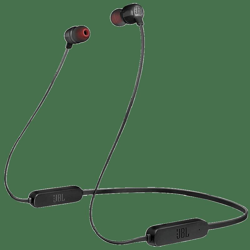 JBL Tune In-Ear Wireless Earphones (T165BT, Black)