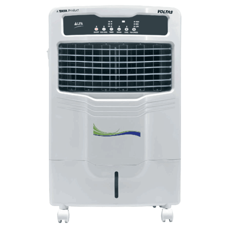 Voltas 28 Litres Personal Air Cooler (Honeycomb Cooling Pads, Alfa 28E, White)