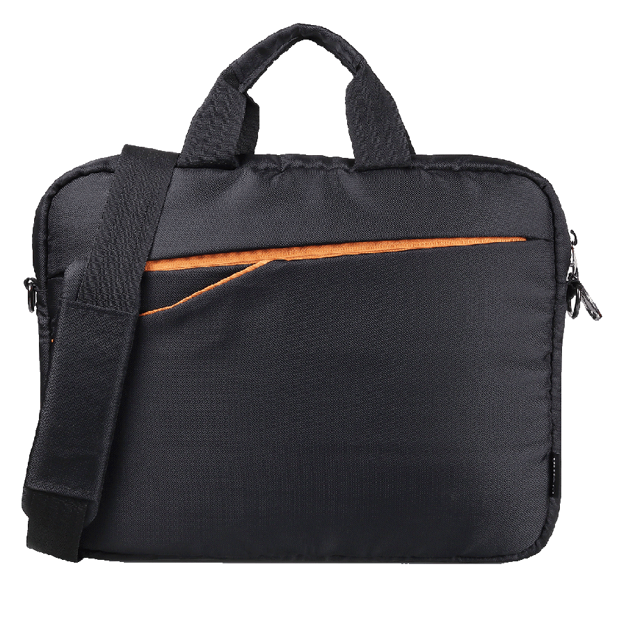 Croma Sleek Messenger PU Fabric Laptop Bag (Detachable Shoulder Strap, CRXL5210, Black)