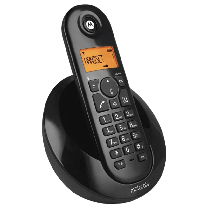 Motorola Cordless Phone (C601I, Black)