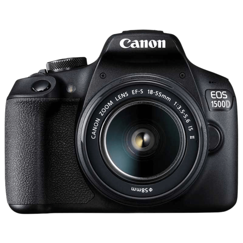 Canon 24.1 MP DSLR Camera Body with 18 - 55 mm & 55 - 250 mm Lens (EOS 1500D, Black)