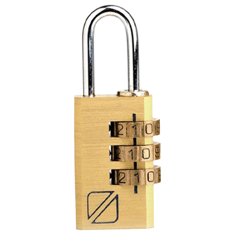 Travel Blue 3 Dial Combination Lock (031GD, Gold)