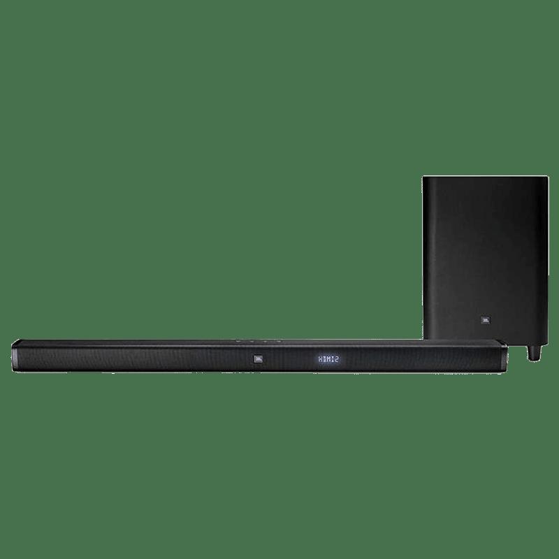 JBL Soundbar with Wireless Subwoofer (Bar 2.1, Black)