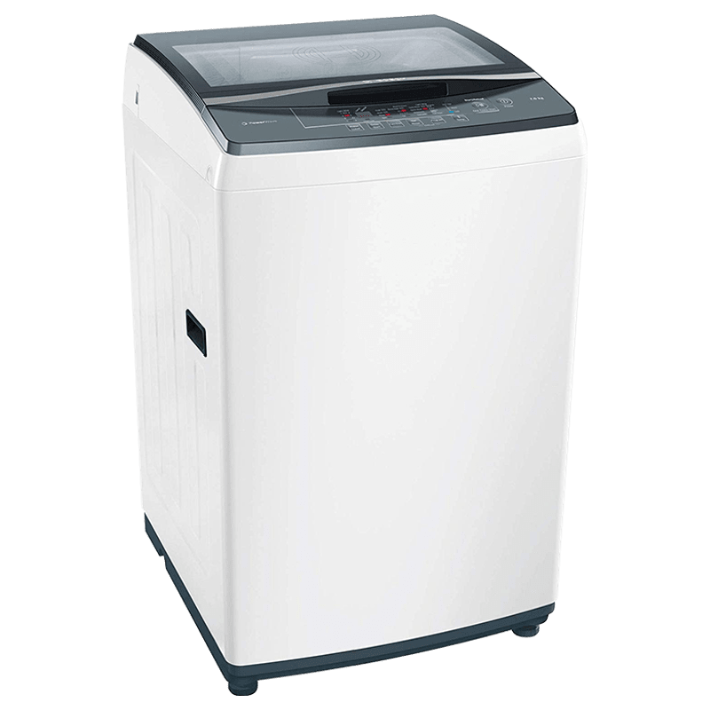 Bosch 7 Kg 5 Star Fully Automatic Top Loading Washing Machine (WOE702W0IN, White)