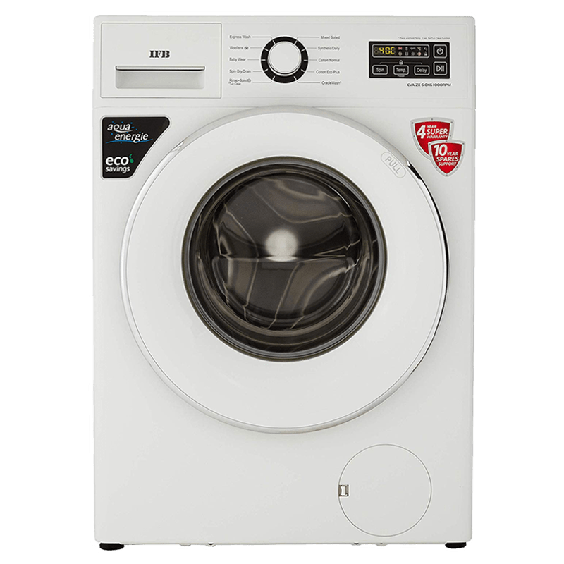 IFB 6 Kg 5 Star Fully Automatic Front Load Washing Machine (EVA ZX, White)