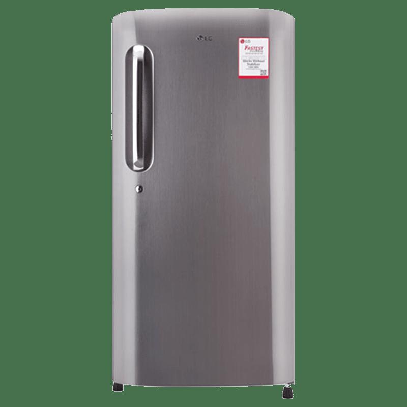 LG 215 Litres 4 Star Direct Cool Inverter Single Door Refrigerator (Solar Smart, GL-B221APZY.DPZZEB, Shiny Steel)