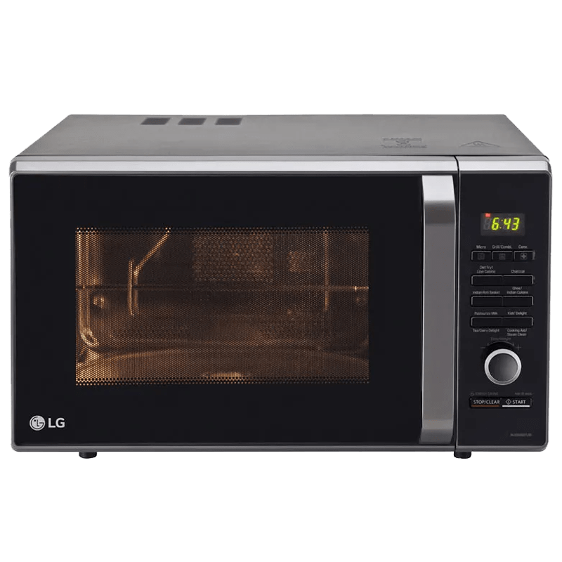 LG 28 Litres Convection Microwave Oven (MJ2886BFUM, Black)