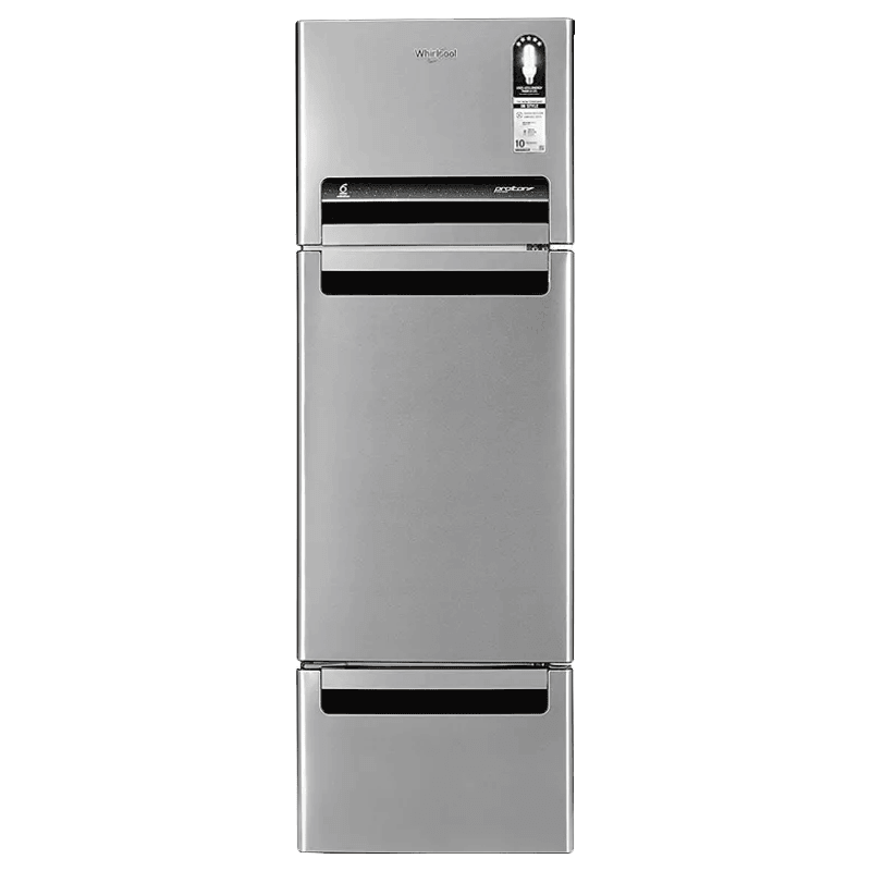 Whirlpool 240 Litres 5 Star Frost Free Inverter Triple Door Refrigerator (Moisture Retention Technology, FP 263D PROTTON ROY, Alpha Steel)