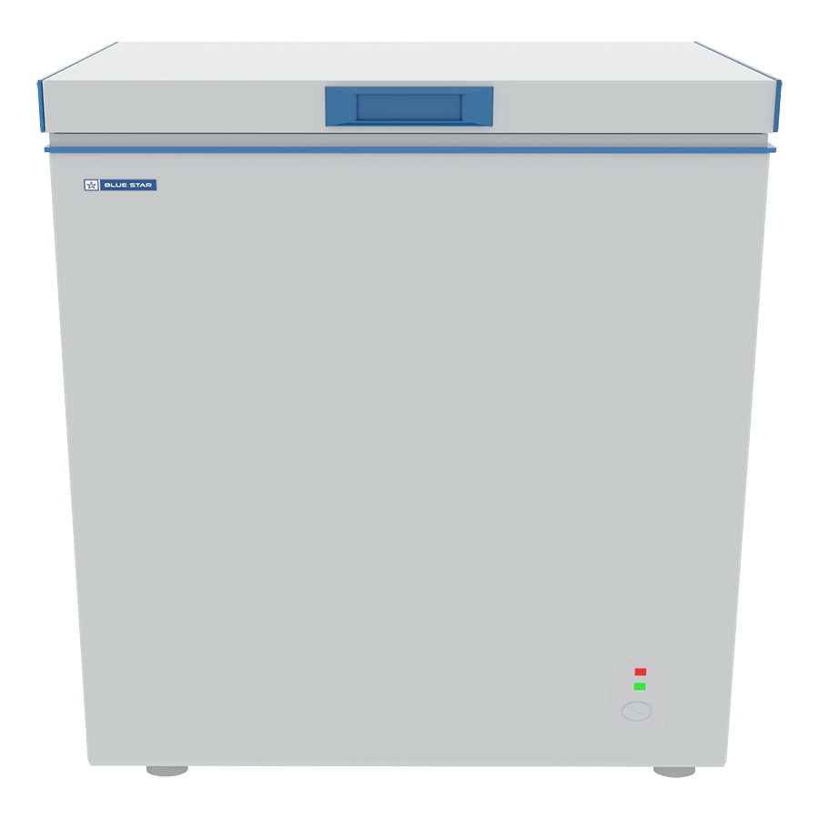 Blue Star D Series 192 Litres Direct Cool Single Door Chest Freezer (Stabilizer Free Operation, CHFSD200DHSW, White)