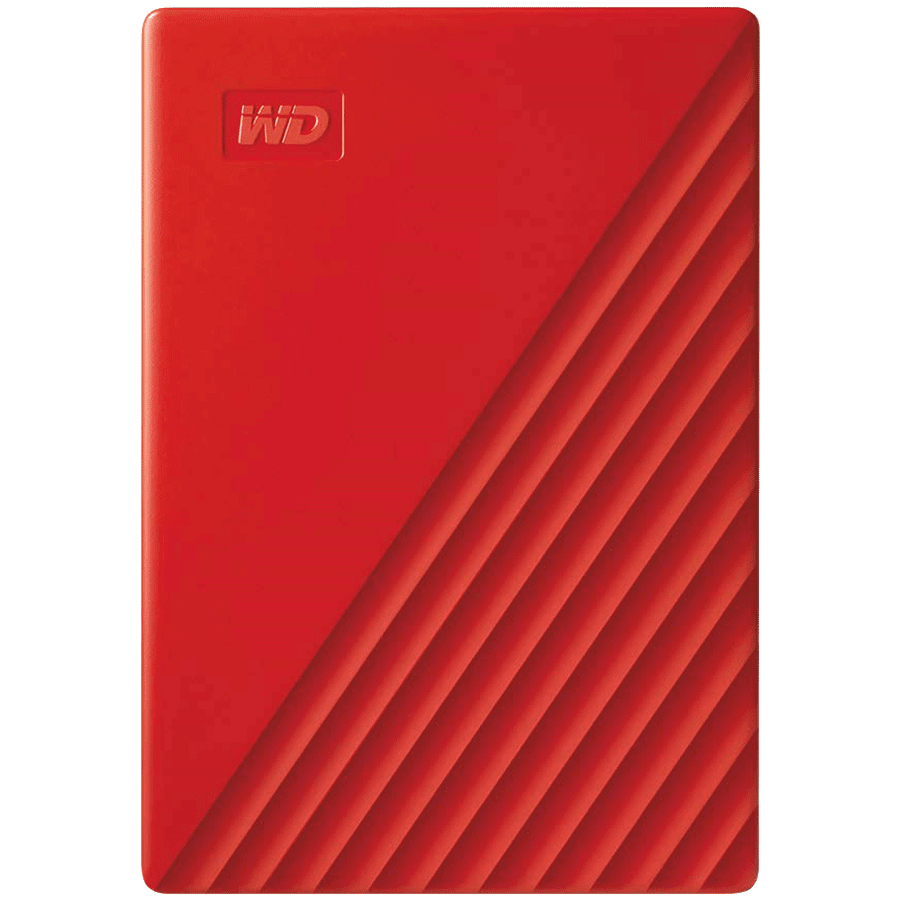 Western Digital My Passport 4TB USB 3.2 Hard Disk Drive (WDBPKJ0040BRD-WESN, Red)