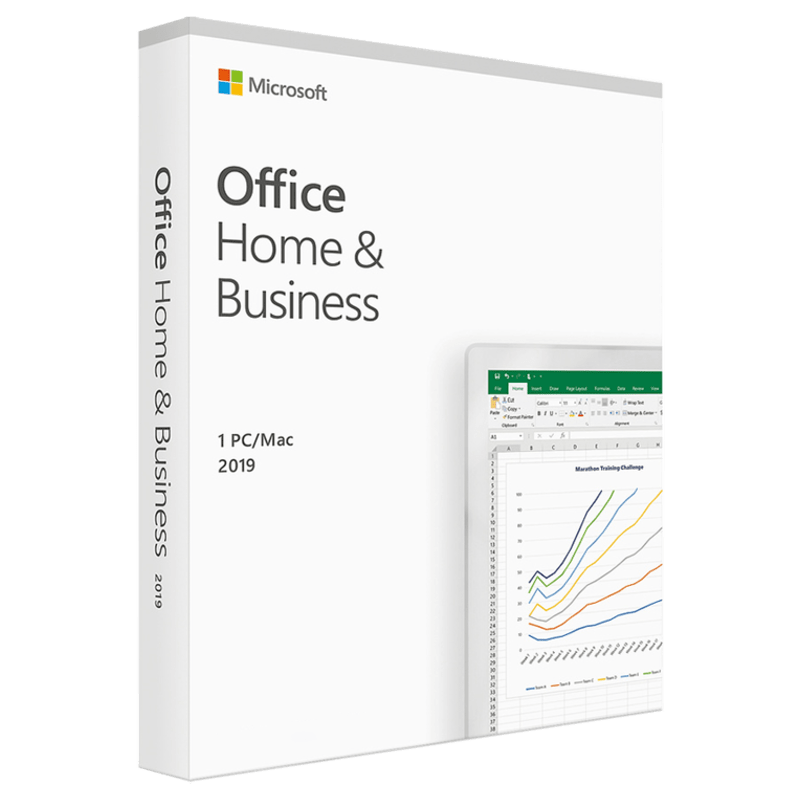 Microsoft Office Home and Business 2019 for 1 PC or Mac (T5-D03177, White)