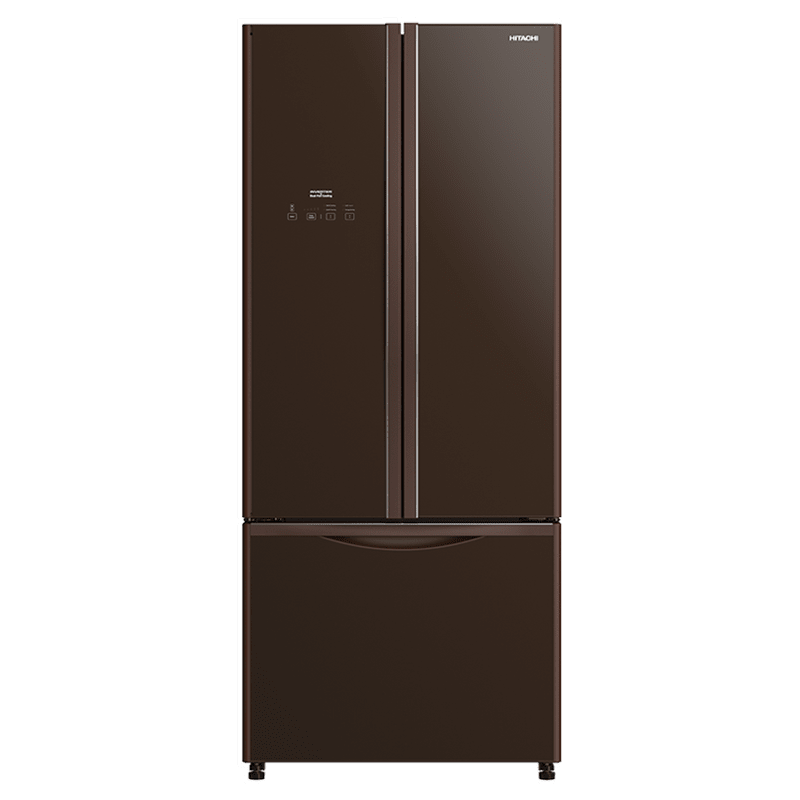 Hitachi 451 Litres Frost Free Inverter French Door Refrigerator (Dual Fan Cooling, R-WB490PND9 GBW, Glass Brown)
