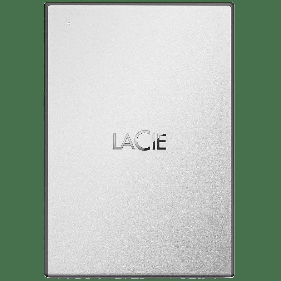 LaCie 4TB USB 3.0 Portable Hard Disk Drive (STHY4000800, Silver)