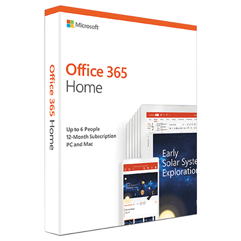 Microsoft Office 365 Home for PC and Mac (6 Users/1 Year)