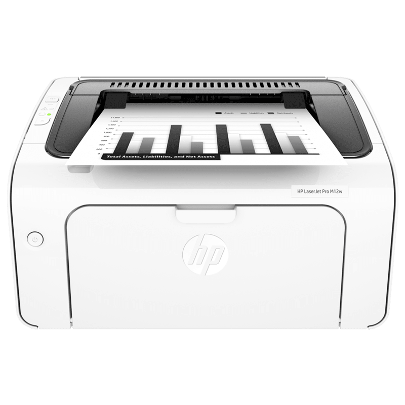 HP Laser Jet Pro M12w Printer (T0L46A#ACJ, White)