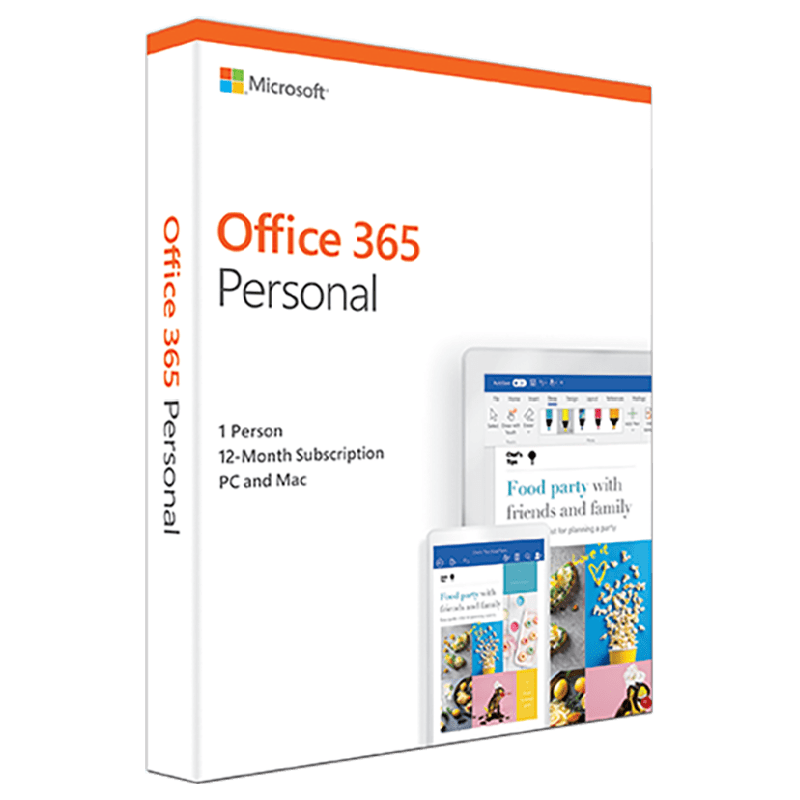 Microsoft Office 365 Personal for PC and Mac (1 User/1 Year)