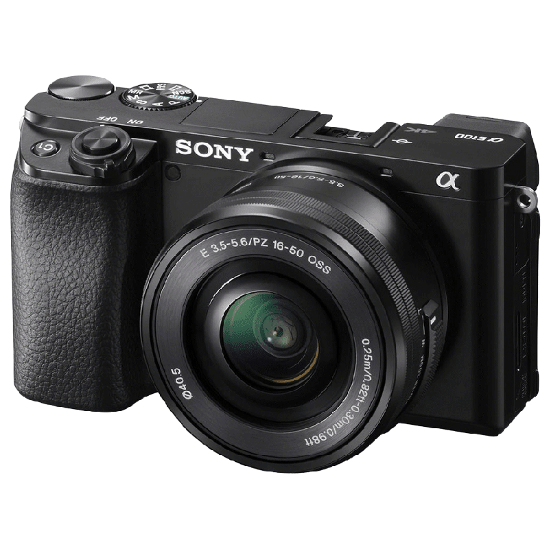 Sony Digital SLR Camera Body with 16–50 mm and 55–210 mm Zoom Lens (ILCE-6100Y, Black)