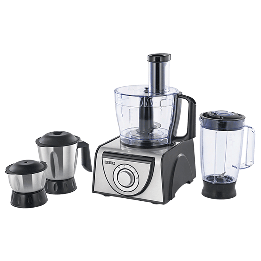 Usha 1000 Watt Food Processor (FP3810, Metallic)