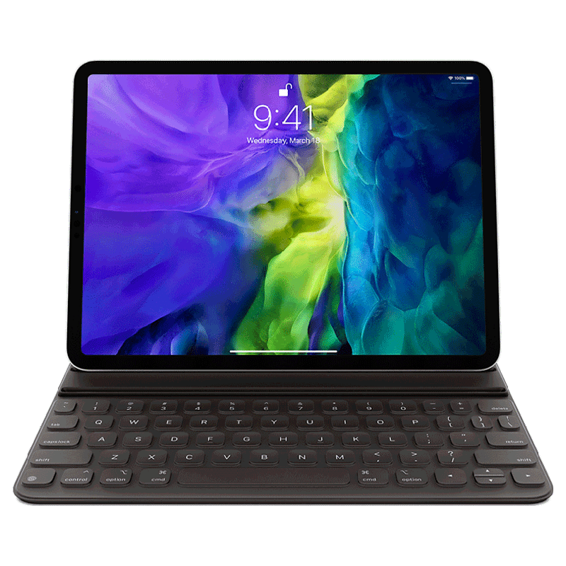 Apple iPad Pro 11 Smart Keyboard Folio Cover 7100001874 (Black)