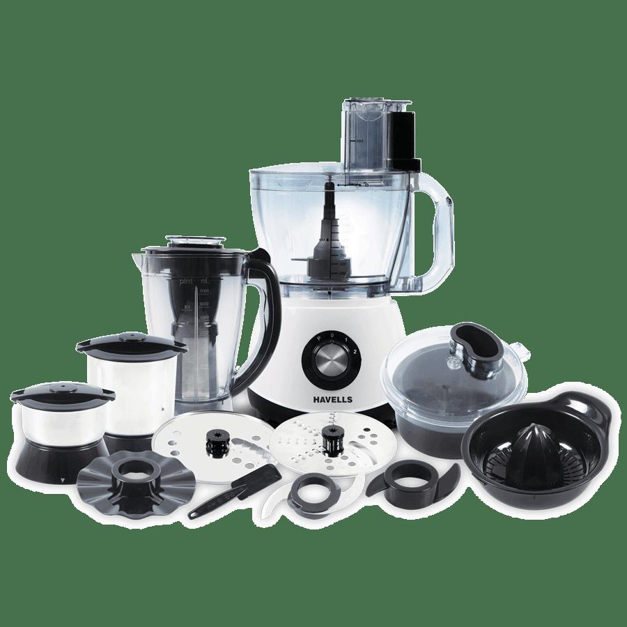 Havells 1200 Watt Food Processor (GHFFPCMW070, White)