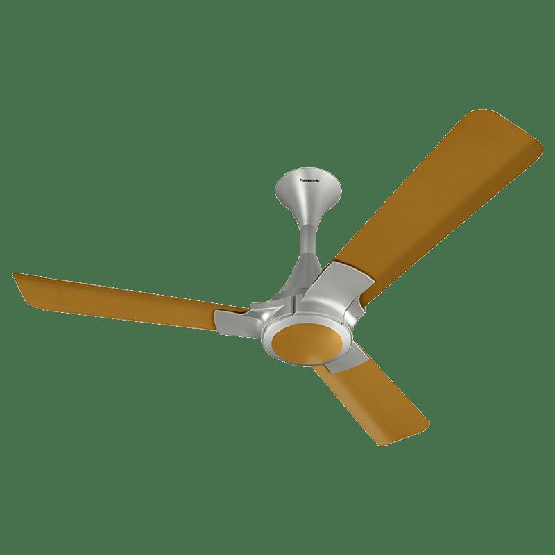 Panasonic 12XAA 120cm Sweep 3 Blade Ceiling Fan (High Speed Motor, 13239BG, Brown/Gold)
