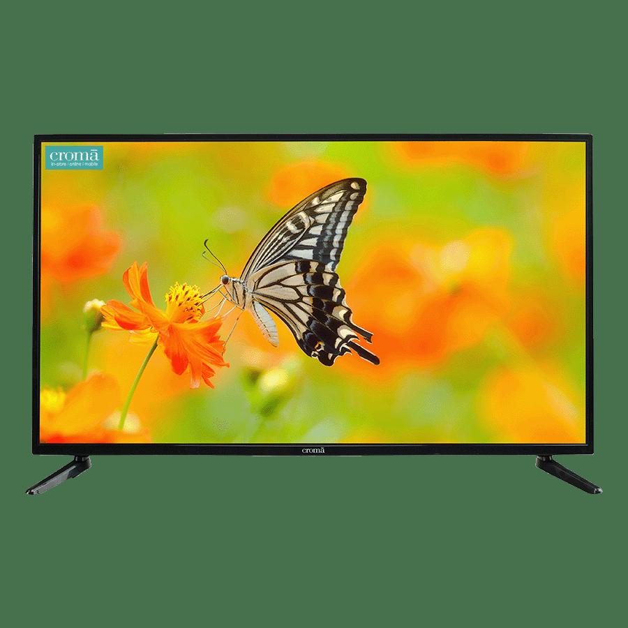 Croma 109 cm (43 inch) Full HD LED Smart TV (EL7345, Black) 3 Years Warranty