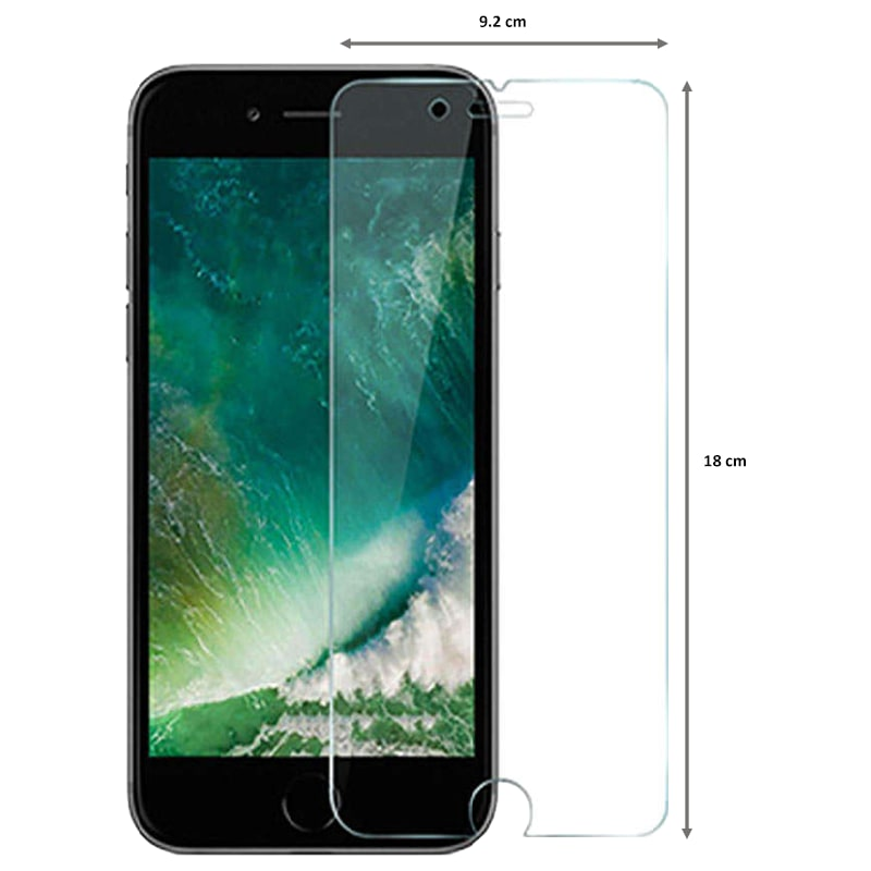 Catz Tempered Glass Screen Protector for Apple iPhone 8 Plus (CZAI8SP-TG0, Transparent)_2