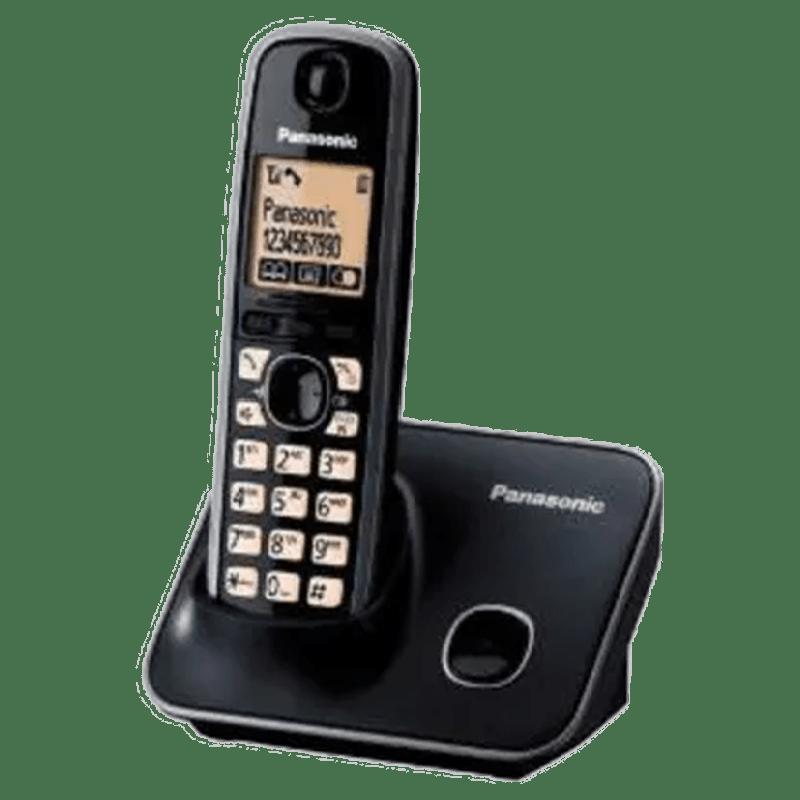 Panasonic Digital Cordless Phone (KX-TG3711SX, Black)