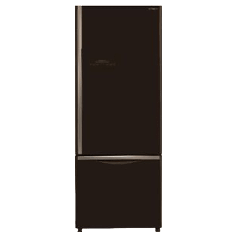 Hitachi 466 Litres 2 Star Frost Free Inverter Double Door Refrigerator (Bottom Mount, Selected Mode Compartment, R-B500PND6-GBW, Glass Brown)