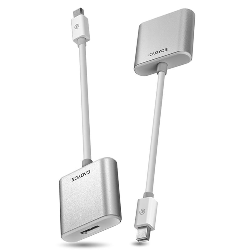 Cadyce Mini Display Port to HDMI (Type-A) Cable (CA-MDHDMI, White)_2
