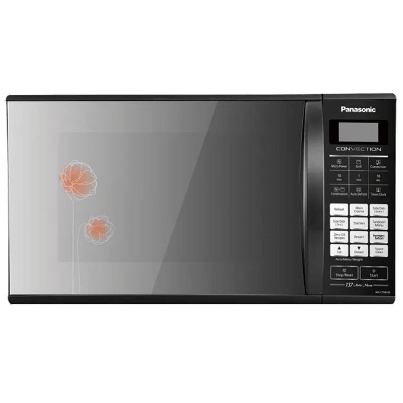 Panasonic 27 Litres Convection Microwave Oven (137 Auto Menu, NN-CT66HBFDG, Black Mirror)