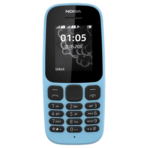 Nokia 105 (4MB ROM, 4MB RAM, Blue)