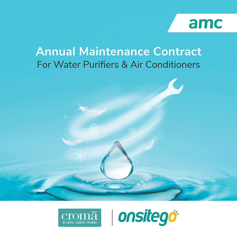 OnsiteGo Annual Maintenance Contract For Water Purifier -UV + Air conditioners