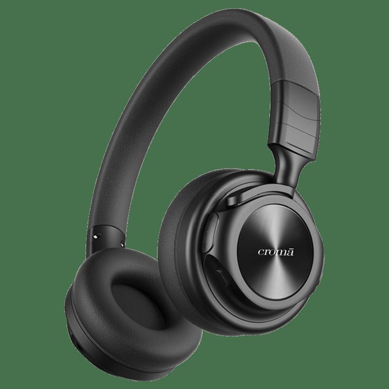 Croma Bluetooth Headphone (CREA4217, Black)