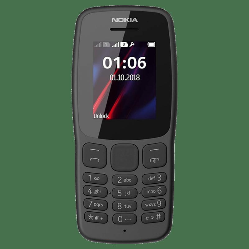 Nokia 106 (Grey, 4 MB, 4 MB RAM)